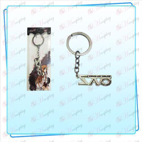 Schwert Art Online AccessoriesSAO Flagge Schlüsselring (silber)