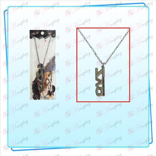 Sword Art Online AccessoriesSAO sign necklace (pearl nickel color)
