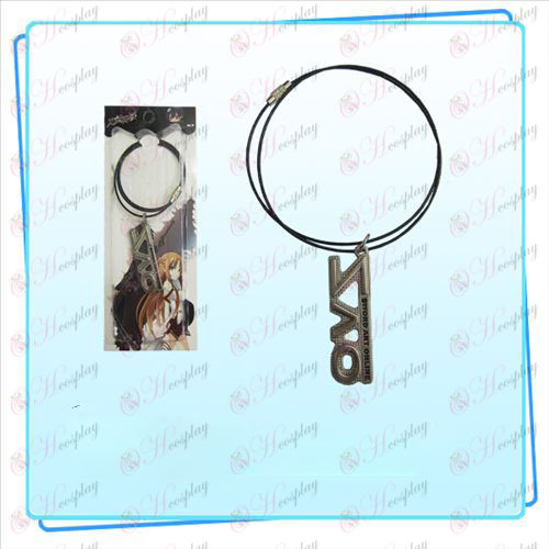 Spada catena filo d'arte online AccessoriesSAO bandiera (perla color nichel)