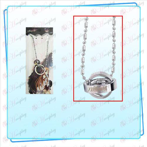 שרשרת חרב אמנות מקוונת אבזרים כפולה טבעת (כסף)