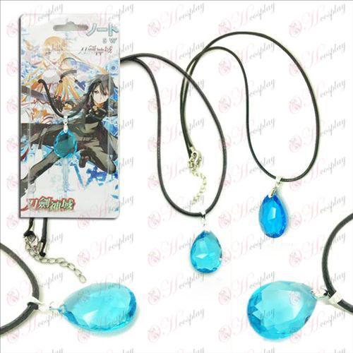 Sword Art Online Аксесоари Yui Hearts 2 цвят капка Колие висулка