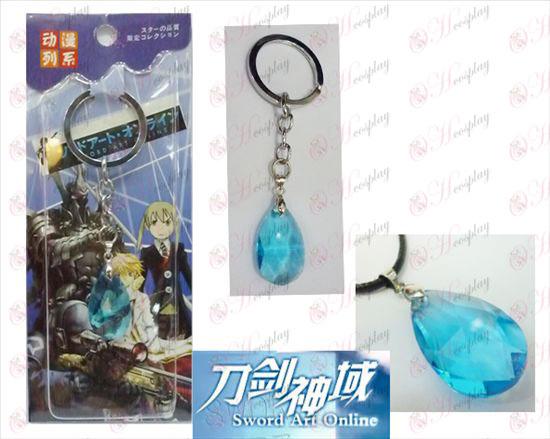 Sword Art Online Аксесоари Yui Blue Crystal Heart Keychain