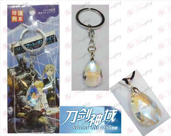 Sword Art Online Аксесоари Yui White Crystal Heart Keychain
