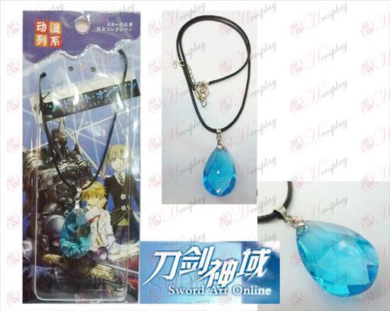 Sword Art Online Аксесоари Yui синьо кристално сърце Колие