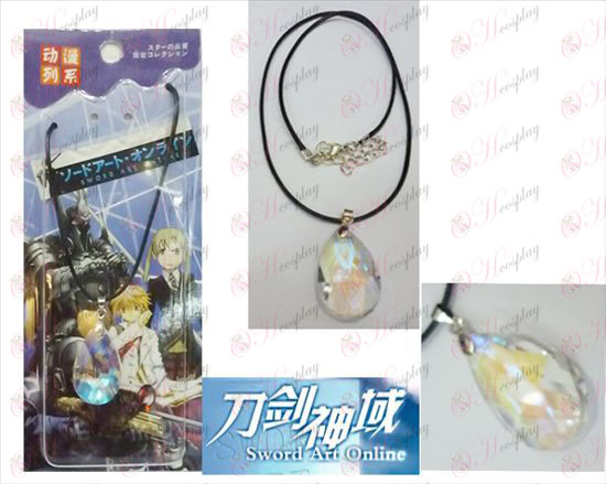 Sword Art Online Accessories Yui White Crystal Heart Necklace