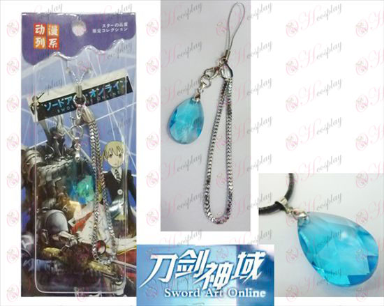 Sword Art Online Accessories Yui heart blue crystal Strap