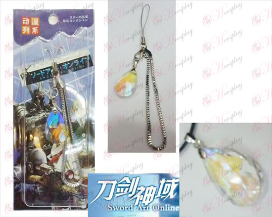 Sword Art Online Аксесоари Yui Heart White Crystal Strap