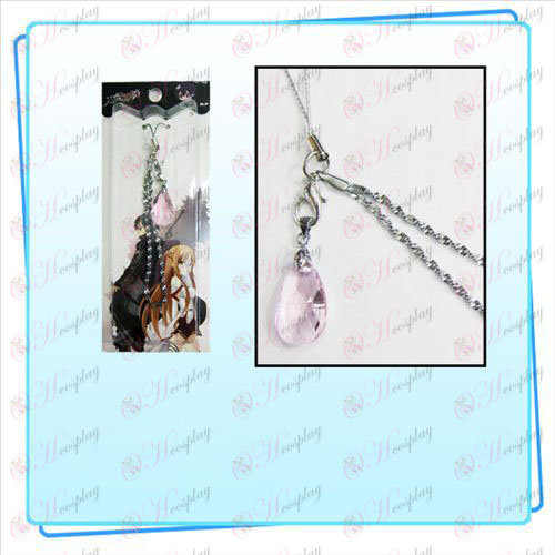 Sword Art Online Аксесоари Yui Heart Crystal Strap (Transparent Pink)