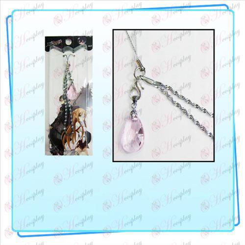 Espada de arte en línea Accesorios Yui cardíaco de la correa de cristal (rosa transparente)