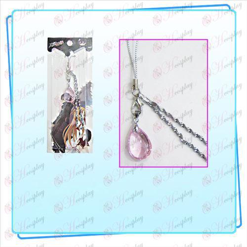 Espada de arte en línea Accesorios Yui Correa Crystal Heart (rosa)