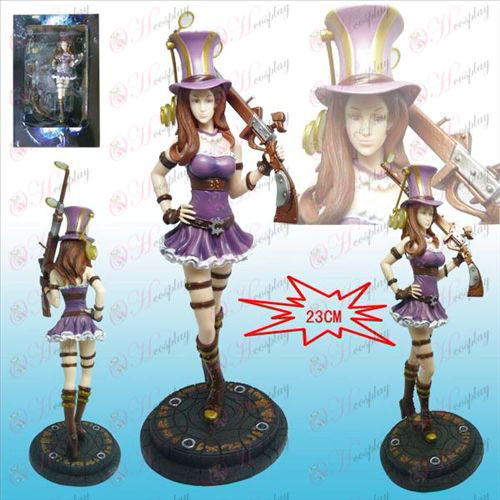 League of Legends Accessoires Lederen Stad agente Caitlin de hand te doen
