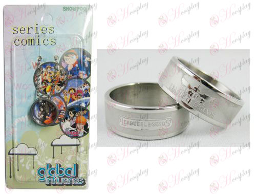 Instalado League of Legends Accesorios tarjeta Anillo Frosted