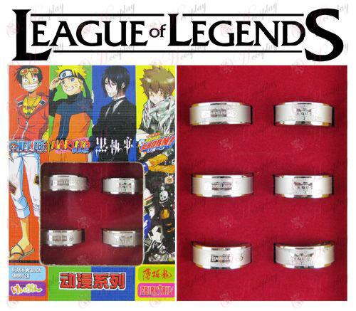 League of Legends אבזרים חלבית הטבעת (6 / סט)