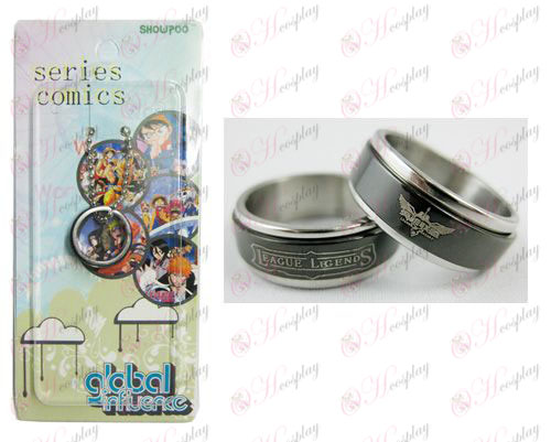 League of Legends Accesorios Negro Anillo de acero transportador