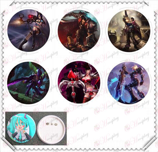 6 montert 75MM lys film badge-League of Legends Tilbehør People