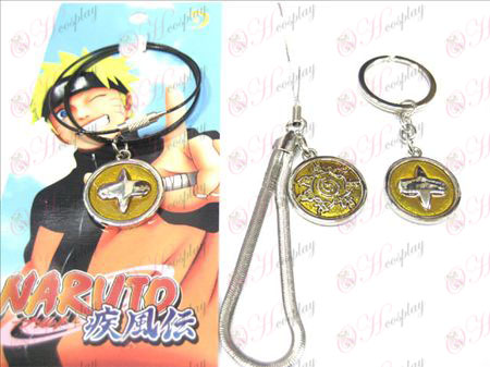 Naruto nine + immortal eye keychain
