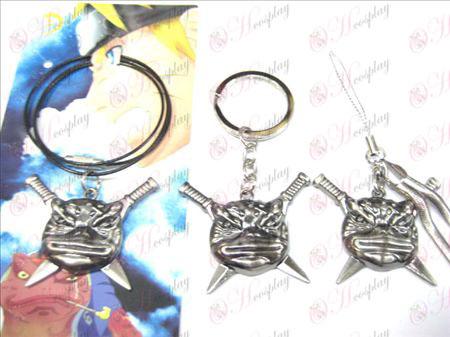Naruto Bunta toad necklace (Guns Black)