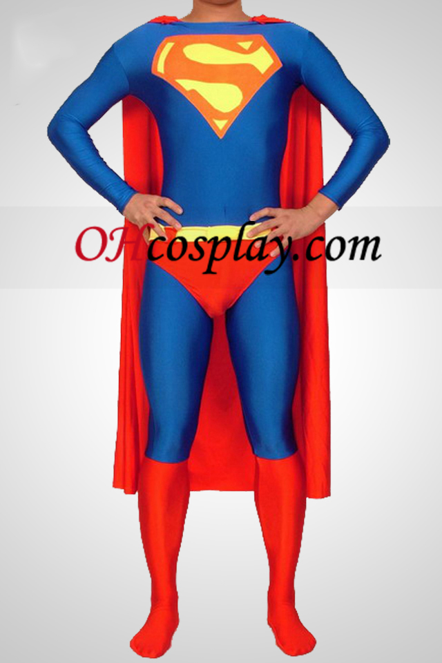 Superman Lycra Spandex Superhero catsuity