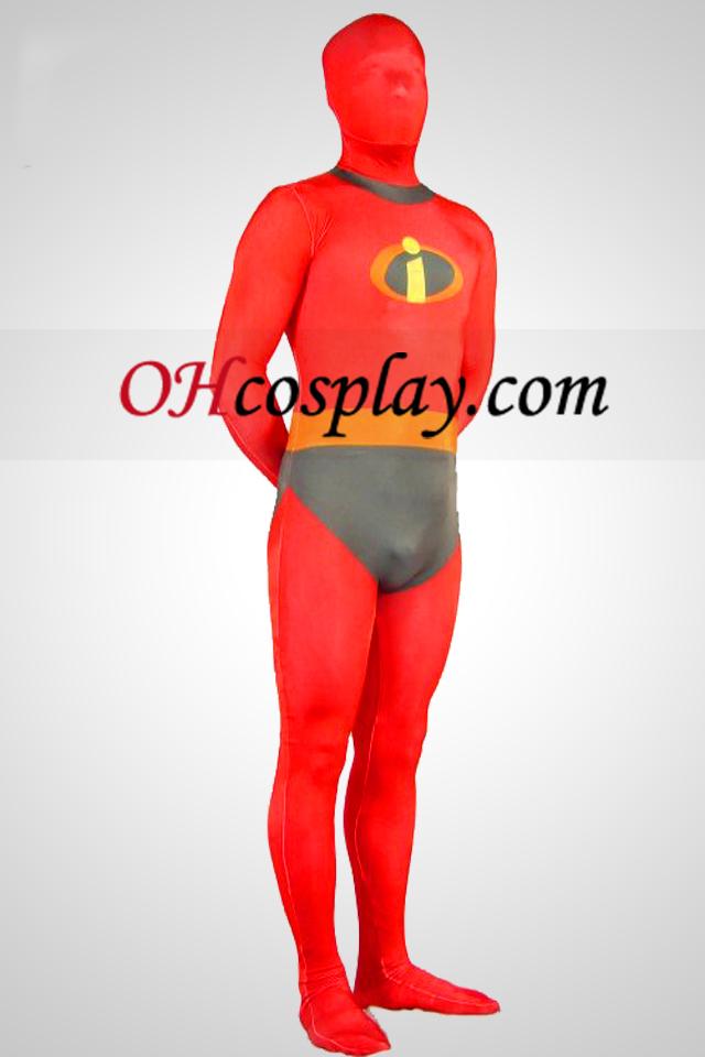 Костюмът Incredibles Lycra Spandex Superhero Зентай