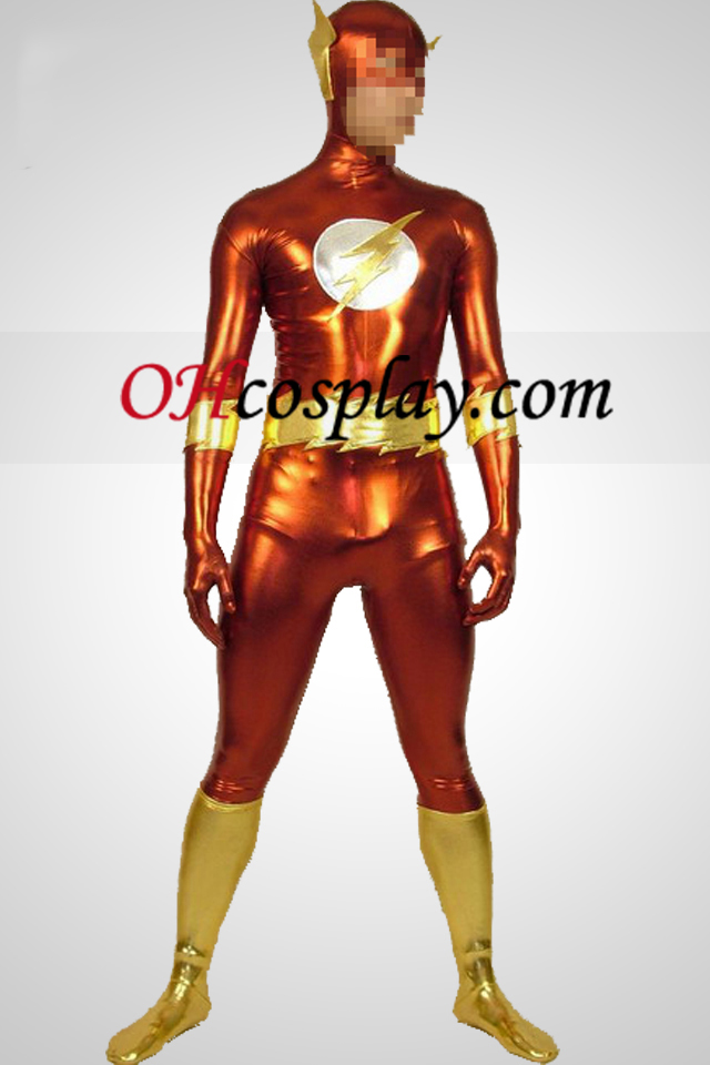 Thunderman Suit Shiny Metallic Superhero Zentai