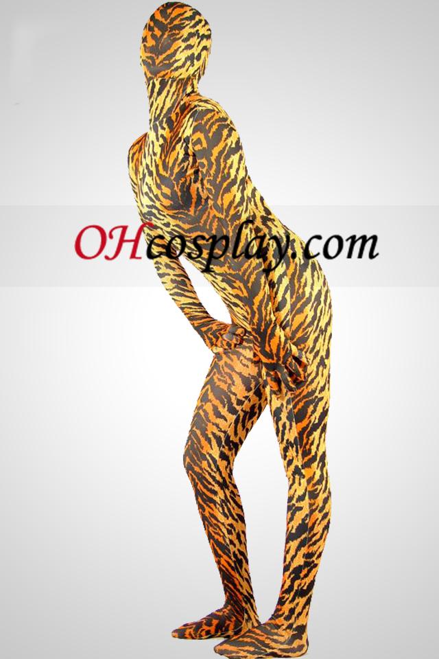 Tiger Lycra Spandex Unisex Zentai Kostuums