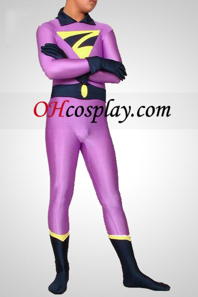 Light Purple Супермен Lycra Spandex Superhero Catsuit