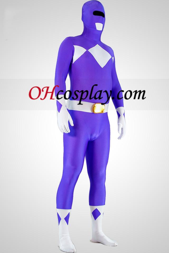 Mighty zentaiin Purple Ranger Lycra Spandex Superhero Zentai Suit
