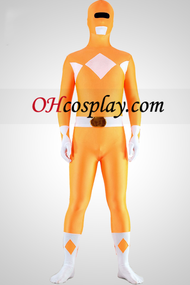 Mighty zentaiin Yellow Ranger Lycra Spandex Zentai Superhelden-Anzug