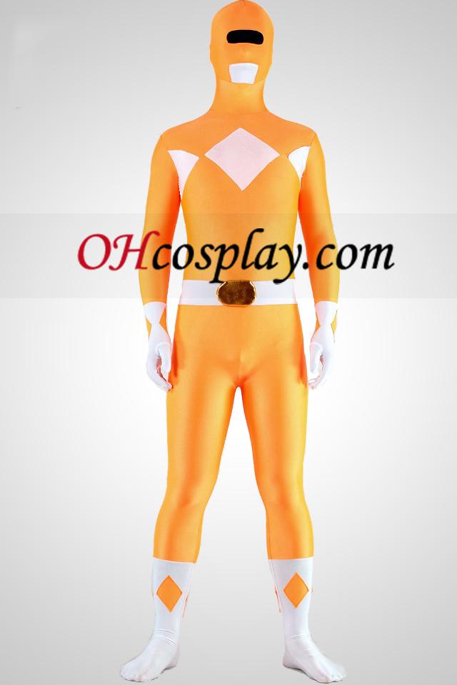 חליפה הצהובה ריינג\'ר הלייקרה ספנדקס Superhero מערער סגיב zentaiin