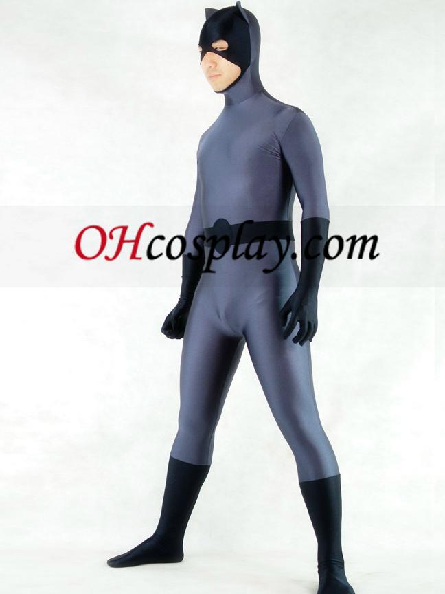 חליפה אפורה והשחור לייקרה ספנדקס באטמן גיבור מערער