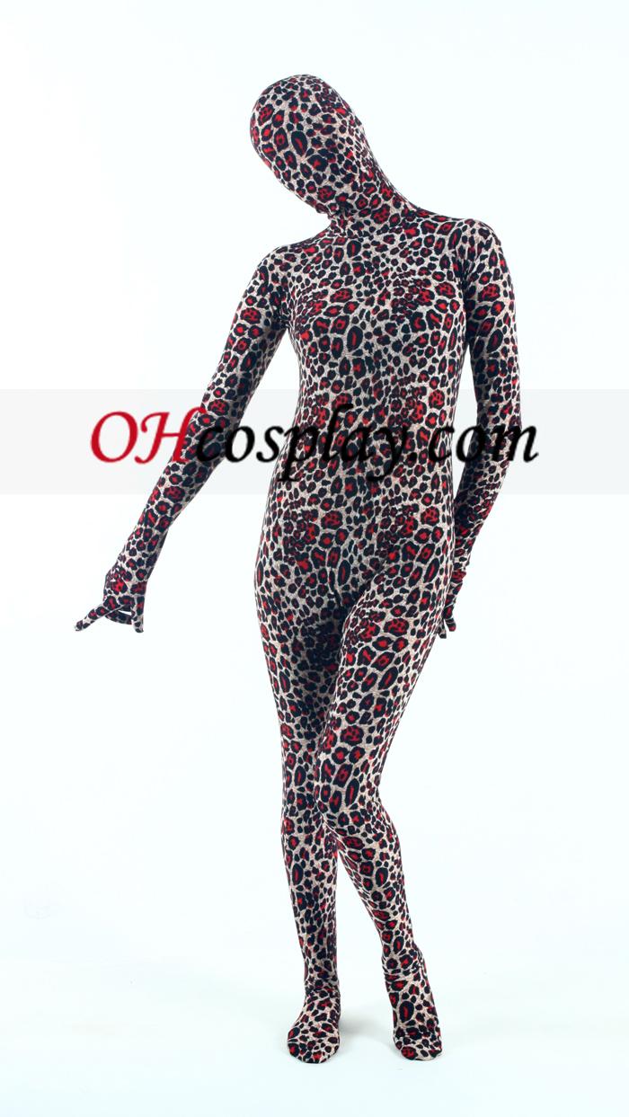 Leopard Lycra Зентай Suit