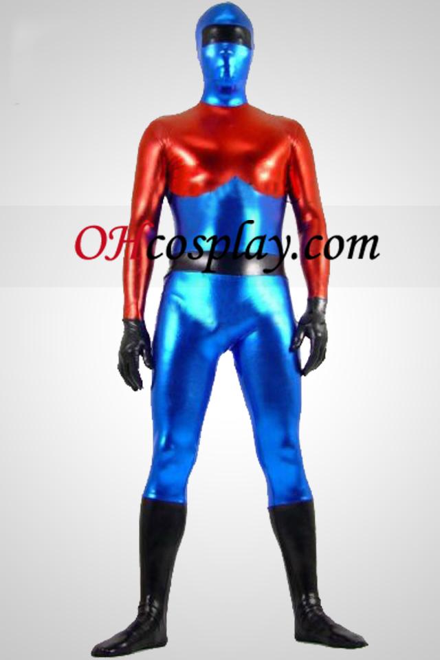 Optimus Prime Shiny Metallic Superhero Zentai Suit