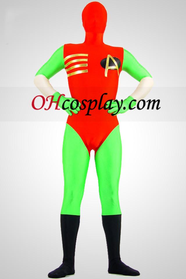 חליפה ירוקה ואדום לייקרה ספנדקס מערער