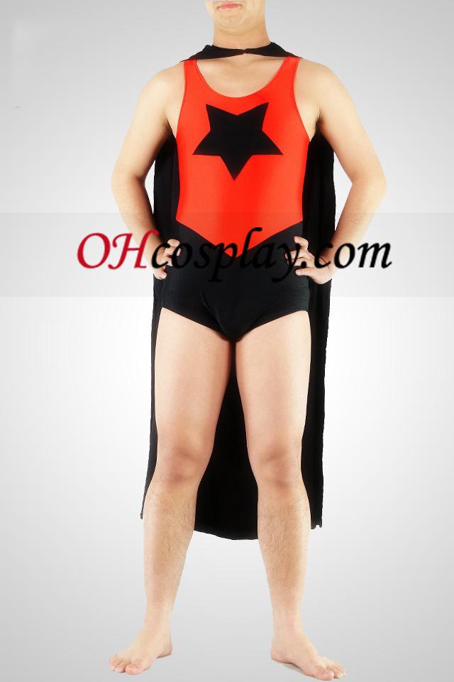 다섯개 별 슈퍼맨 슈퍼 영웅 Catsuit는
