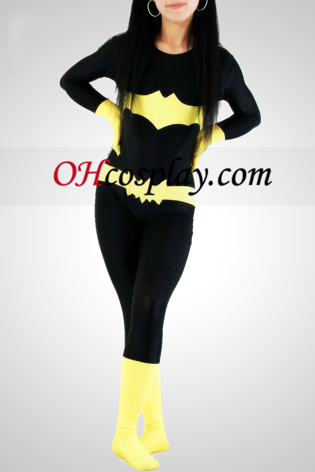 Bat Woman Lycra Superheld Catsuit