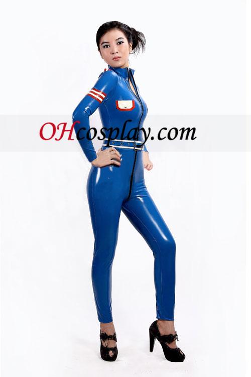 2013 כחול ואדום מלא גוף מכוסה וקדמי נפתח בגד גוף