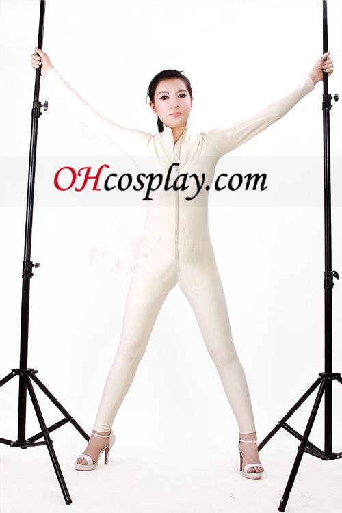 2013 לבן חזית פתוחה סקסי לאטקס בגד גוף