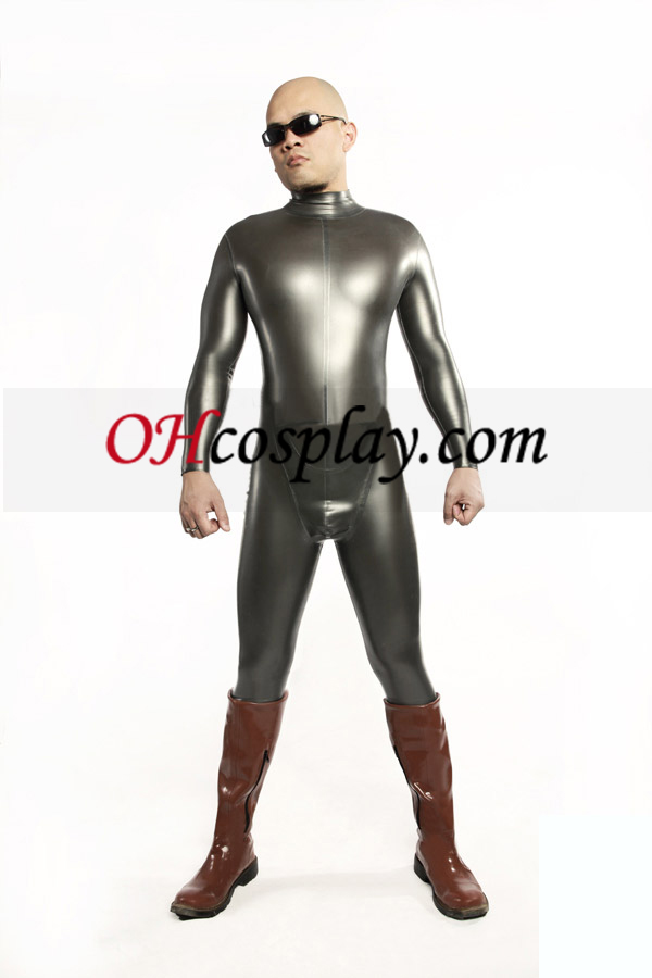 Clássico Siver Latex Costume