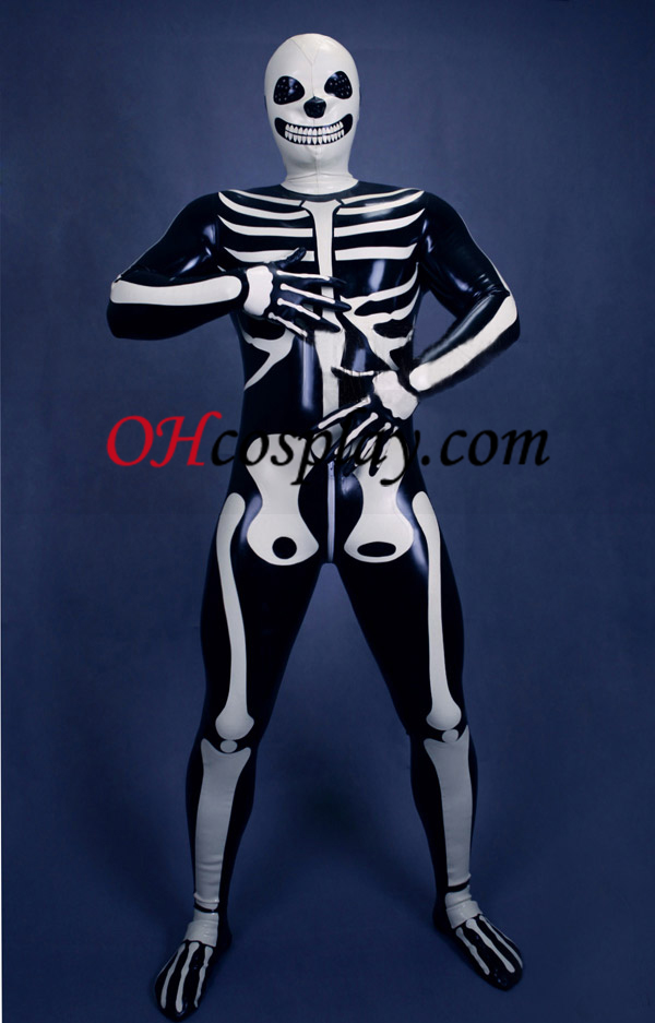 2013 New Skeleton Zentai Suit