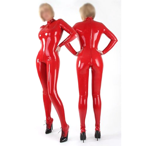 2012 New Sexy Red Female Cosplay Latex Costume
