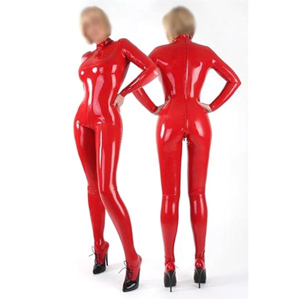 2012 New Sexy Red Feminino Cosplay Costume Latex