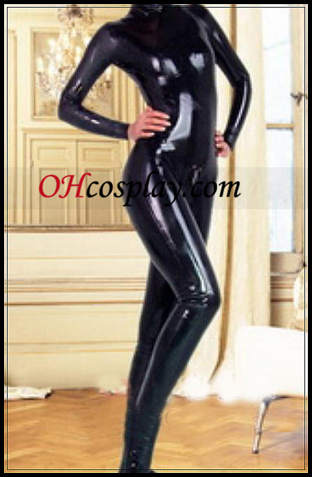 2012 Black Long Sleeves Latex Costume