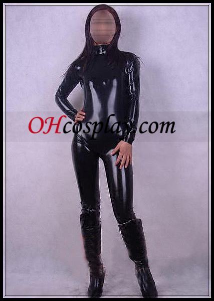 Shiny Black Vrouw Latex Kostuum