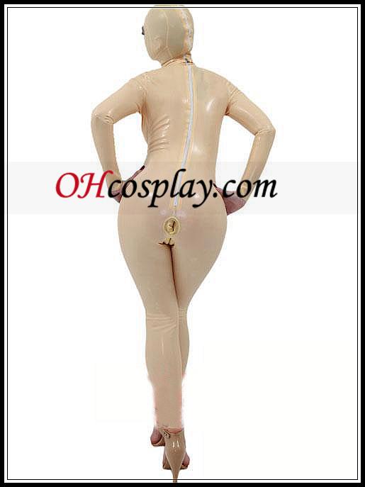 Ivory de corpo inteiro e com capuz de látex Costumes