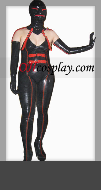 2012 Black and Red Female Sexy Latex Costume