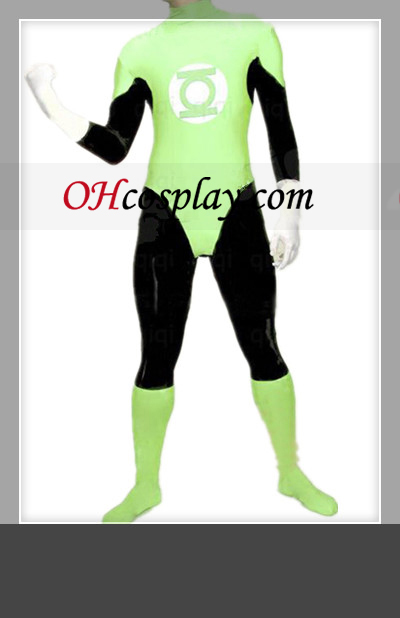 Classic Green Lantern Férfi Latex Catsuit