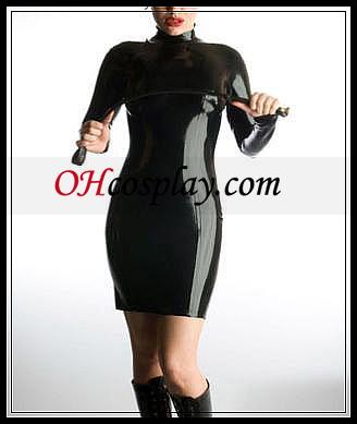 Completa del cuerpo femenino de Cosplay Latex Catsuit