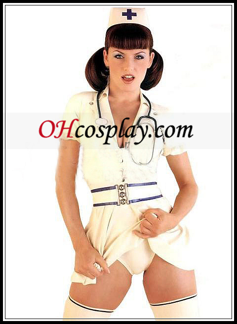 Classic Sexig sjuksköterska Latex kostym