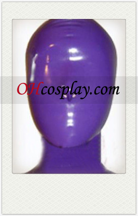 Nya Lila Full Face Täckt Latex Mask