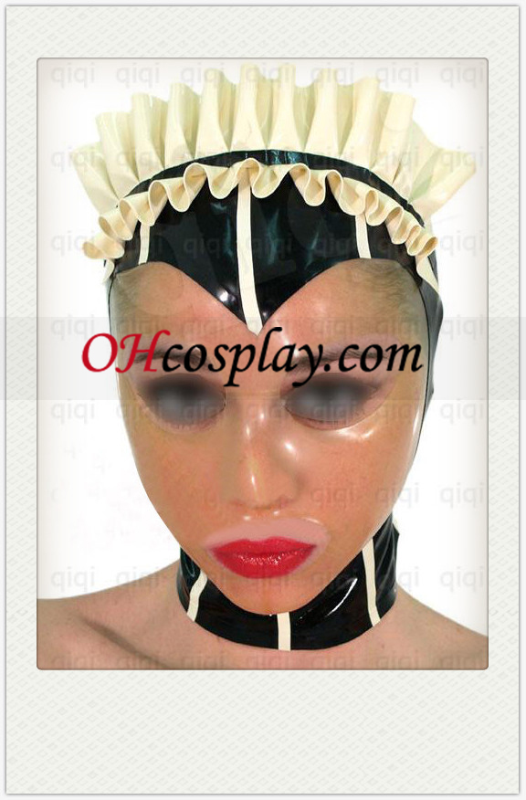 Classic Kvinna Cosplay Latex Mask med Transparent Face